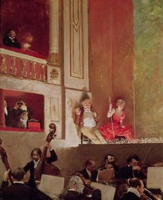 Jean Béraud - Revue at the Theatre des Varietes, c.1885.