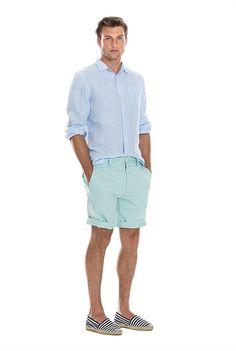 Summer Shorts Outfits, Casual Summer Outfits, Short Outfits, Espadrilles Outfit, Striped Espadrilles, Summer Wear, Men Summer, Dress Codes, Sexy Men