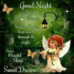 May the angels care for you always-good night friends Good Night Family, Lovely Good Night, Good Night Friends, Night Love, Good Night Wishes, Good Night Sweet Dreams, Good Evening Wishes, Beautiful Morning, Good Night Qoutes