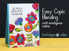 video tutorial, copic coloring, Sandy Allnock Easy blending Doodle Buds