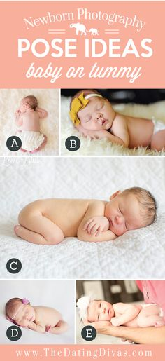 Precious Newborn Photography Pose Ideas with Baby on Tummy