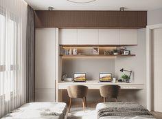 Study Table Designs, Study Room Design, Home Room Design, Kids Room Design, Built In Furniture, Home Decor Furniture, Office Interior Design, Room Interior, 4 Bedroom House Designs