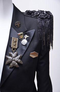 Balmain Tuxedo Style Millitary Jacket With Embellishment - Tuxedo - Ideas of Tuxedo - Military inspired fashion