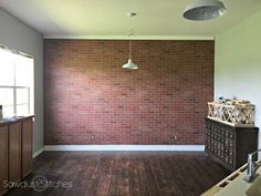 How To Faux Brick Wall Panel By Sawdust2stitches.com