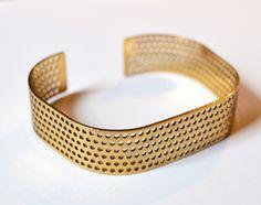 Designer Armand Graham created this beautiful bracelet in gold plated brass #3dPrintedJewelry