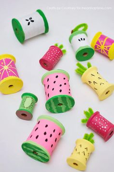 Summer Fruit Recycled Craft
