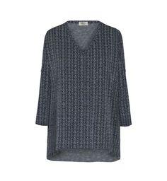 Mela Purdie Spear Jacquard V Short Sleeved Sweater