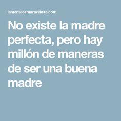 No existe la madre perfecta, pero hay millón de maneras de ser una buena madre