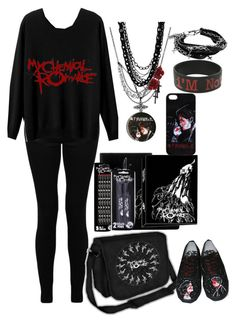 """""""School Outfit:My Chemical Romance"""" by nancythepanda ❤ liked on Polyvore featuring Amrita Singh and Religion Clothing"""