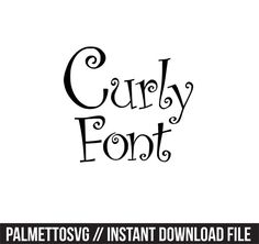 curly font svg dxf jpeg png file stencil monogram frame silhouette cameo cricut clip art commercial use