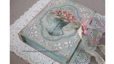 Decoupage tutorial - DIY. Vintage Book Box with Key