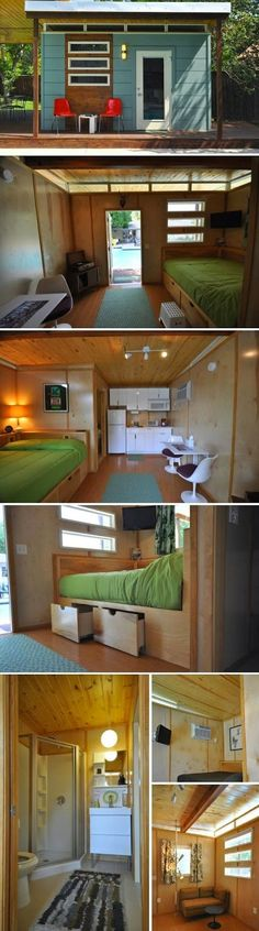 Tiny House And Small Space Living ideas Shed Homes, Tiny Homes, Casas Containers, Tiny House Movement, Small Places, Tiny House Living, Living In A Shed, Living Rooms, Living Spaces