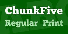 ChunkFive Font Family · 1001 Fonts