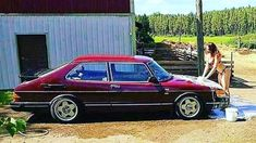 classic saab Saab Automobile, National Electric, Mechanical Workshop, Saab 900, Old School Cars, Car Girls, General Motors, Motor Car, Custom Cars