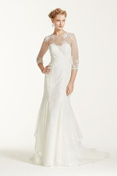 White by Vera Wang Illusion Neckline Wedding Dress VW351242 Some