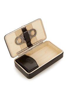 Leather travel cigar case | F. Hammann | MATCHESFASHION.COM Cigar Travel Case, Cigar Cases, Cigars, Wallet, Holiday, Leather, Vacations, Cigar, Holidays