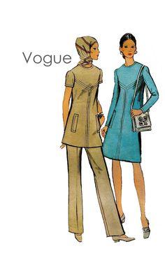 1970s Vogue 7938 Mod ALine Dress or Tunic by DesignRewindFashions, $12.00