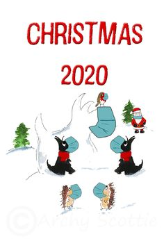 Excited to share this item from my #etsy shop: Scottie Dogs 'Christmas 2020' Holiday Greeting card Scottish Terrier Christmas GC#52