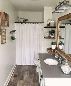 45 Relaxing Bathroom Decor Ideas For Your Bathroom Look Cool - Home Decor Design Western Bathroom Decor, Western Bathrooms, Bath Decor, Guest Bathrooms, Bathroom Ideas, Bathroom Organization, Wood Bathroom, Dream Bathrooms, Small Bathroom