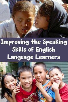 Tips for helping ELLs improve their speaking skills.   #speaking #orallanguagedevelopment #esl #esol #language #englishlanguage #elementary