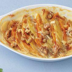 Kartoffel-Kürbis-Gratin mit Walnusskruste