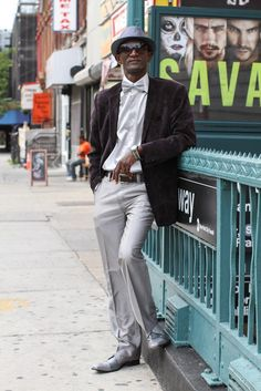 humansofnewyork:    This man swaggered up, posed for a photo, then swaggered away.