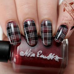 The Polished KOI: Stamping Saturday: Plaid