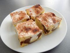 Buchta se zakysanou smetanou Eclairs, Tiramisu, Ham, French Toast, Food And Drink, Breakfast, Sweet, Ethnic Recipes, Desserts