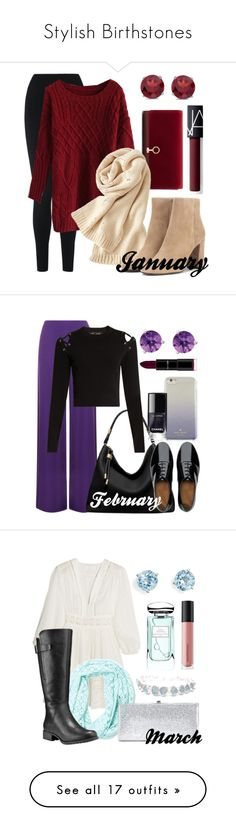 Introducing some stunning outfits created at polyvore.com to put a twist on those Birthstones that everyone has. Have fun picking out your favorite styles and be inspired to create your own with the special outfits that match your birthstone. Be creative and be inspired to personalize your own fashion.
