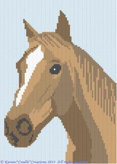 Crochet Pattern/Patterns - HORSE Graph/Chart Afghan Pattern in Crafts, Needlecrafts & Yarn, Crocheting & Knitting Crochet Afghans, Graph Crochet, Tunisian Crochet Stitches, C2c Crochet, Tapestry Crochet, Crochet Blankets, Afghan Crochet Patterns, Cross Stitch Patterns, Crochet Horse