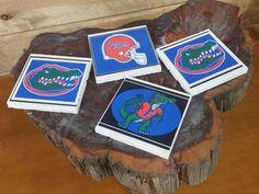 Florida Gators Football Mix Coasters Set of 4, Travertine Tile Gator Mix Coasters, Florida Gator Logo Football Mix Coasters Decor Gift Set, by TSHeartsDesire374 on Etsy