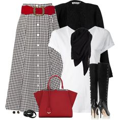 Pop of Red by daiscat on Polyvore featuring Majestic Filatures, Jil Sander, Lisa Marie Fernandez, Lucy Choi London, Fendi, by Circa Sixty Three, Kate Spade and AllSaints