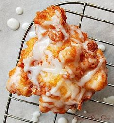 Delicious Fresh Peach Fritters... pillow-y soft, moist and full of fresh peaches.
