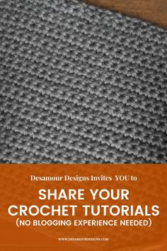 Beginner Crochet Tutorial, Crochet For Beginners, Free Crochet, Crochet Patterns, Designers, Journey, Create, Blog, Women