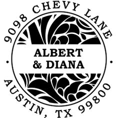 Albert Round Return Address Stamp - for me?