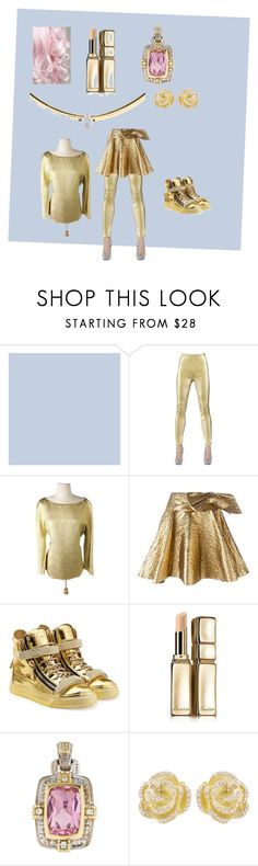 """Gold Girl"" by kayti284breezete ❤ liked on Polyvore featuring Jean-Paul Gaultier, Michael Kors, Lanvin, Giuseppe Zanotti, Guerlain, Judith Ripka and Effy Jewelry"