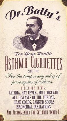 Last van astma? Rook een sigaret en je problemen zijn opgelost.