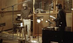 """Ray Charles and Tony Bennett recording Everybody Has The Blues, at the Larabee Studios in Los Angeles on January 4, 1986 (""""This will be Bennett's first album in 10 years, his first collaboration with Ray Charles. The Columbia release, due in April, will be sold in compact disc, cassette, and album simultaneously, an unusual marketing strategy"""")."""