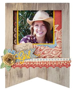 While this pennant has an outdoorsy feel to it, these colors and elements are still elegant and feminine. Create your own with Close To My Heart's Cricut® Artbooking cartridge. #CTMH