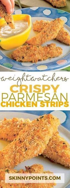 Crispy Parmesan Chicken Strips With Only 5 Weight Watchers Smart Points. we used bread crumbs tasty!ours is 7 Smart Points Poulet Weight Watchers, Plats Weight Watchers, Weight Watchers Smart Points, Weight Watcher Dinners, Weight Watchers Recipes With Smartpoints, Air Fryer Recipes Weight Watchers, Weight Watchers Success, Weight Watchers Appetizers, Weight Watchers Lunches