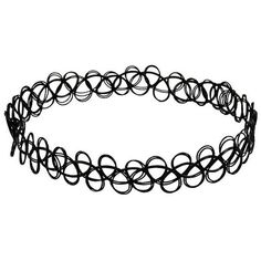 JQUEEN Vintage Black Gothic Stretch Elastic Double Line Henna Tattoo... ($2.52) ❤ liked on Polyvore featuring jewelry, necklaces, chokers, accessories, vintage jewelry, gothic choker, stretch choker necklace, goth choker necklace and gothic necklace