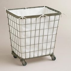 One of my favorite discoveries at WorldMarket.com: Ellie Rolling Hamper