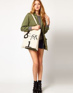 Discover women's brands at ASOS. Of Brand, Women Brands, Fashion Brands, Military Jacket, Totes, Asos, Womens Fashion, Jackets, Shopping