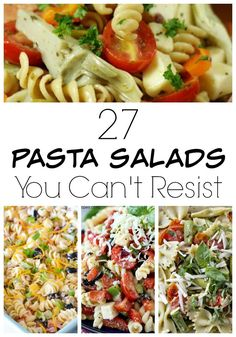 These 27 summer pasta salad recipes are easy to make and perfect for bringing to your next summer holiday BBQ or get together.