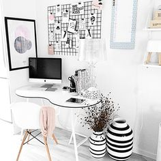 Stijlvolle thuiswerkplek #home #office