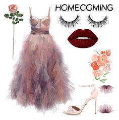 """""""// slay //"""" by liamschoco on Polyvore featuring moda, Marchesa, Dolce&Gabbana, Lime Crime e Nearly Natural"""