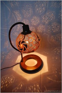 Handmade Gourd Lamps by Gourdlight