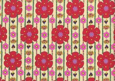 Retro Flowers from Kokka Fabrics:   $17.00 per yard   i love this sooo much
