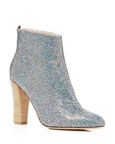 SJP by Sarah Jessica Parker Minnie Metallic Glitter High Heel Booties