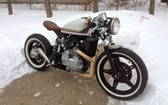 CX500 Bobber in the snow by BBCR